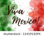 viva mexico background with... | Shutterstock .eps vector #1141913294