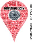 institutional racism word cloud ... | Shutterstock .eps vector #1141927181
