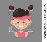 facial recognition.vector... | Shutterstock .eps vector #1141931297
