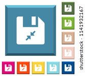 compress file white icons on... | Shutterstock .eps vector #1141932167