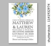 wedding invitation or bridal... | Shutterstock .eps vector #1141932974
