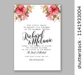 wedding invitation or bridal... | Shutterstock .eps vector #1141933004