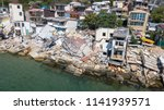 the destroyed house after the... | Shutterstock . vector #1141939571