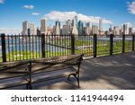 New york skyline seen from Brooklyn heights promenade