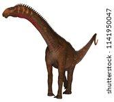 mierasaurus dinosaur on white... | Shutterstock . vector #1141950047
