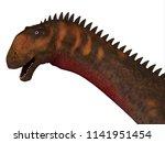 mierasaurus dinosaur head 3d... | Shutterstock . vector #1141951454