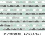 hand drawn abstract vector... | Shutterstock .eps vector #1141957637