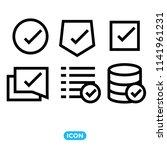 approve vector icon set. black...