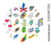 adding machine icons set....   Shutterstock .eps vector #1141967201
