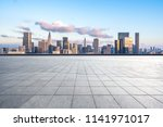 empty square with city skyline | Shutterstock . vector #1141971017