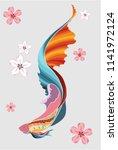 beautiful fish vector.thai beta ...   Shutterstock .eps vector #1141972124