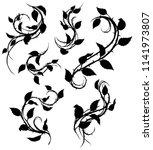Graphic Black Silhouette Flora...