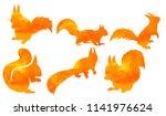 silhouette of watercolor... | Shutterstock .eps vector #1141976624