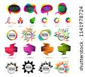 set of abstract elements vector.... | Shutterstock .eps vector #1141978724