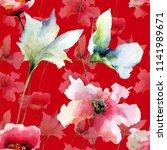 floral seamless pattern ... | Shutterstock . vector #1141989671