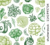 green vegetables seamless... | Shutterstock .eps vector #1141995734