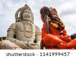 hindu god hanuman idol  huge... | Shutterstock . vector #1141999457