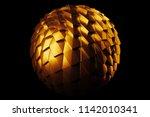 3d render metal isolated ... | Shutterstock . vector #1142010341
