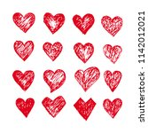 hand drawn hearts icon | Shutterstock .eps vector #1142012021