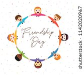 happy friendship day greeting... | Shutterstock .eps vector #1142020967