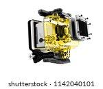 modern yellow camera for... | Shutterstock . vector #1142040101
