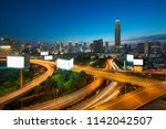 panoramic bangkok city building ...   Shutterstock . vector #1142042507