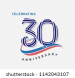 30 years anniversary ribbon... | Shutterstock .eps vector #1142043107