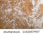 white flour on rustic wooden... | Shutterstock . vector #1142057957