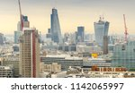 aerial view of london modern... | Shutterstock . vector #1142065997