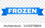 frozen text on a ribbon....   Shutterstock .eps vector #1142078804