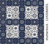 talavera pattern.  indian... | Shutterstock .eps vector #1142086001