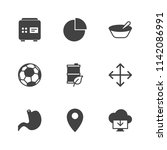 modern simple vector icon set.... | Shutterstock .eps vector #1142086991