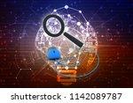 3d rendering online connected... | Shutterstock . vector #1142089787