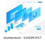 business analysis system ... | Shutterstock .eps vector #1142091917