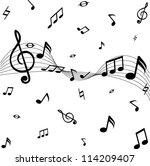 black music note | Shutterstock . vector #114209407