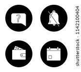 ui ux glyph icons set. live...