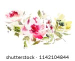 watercolor illustration with... | Shutterstock . vector #1142104844