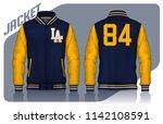 varsity jacket design... | Shutterstock .eps vector #1142108591