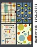 vector vintage geometric... | Shutterstock .eps vector #1142108891