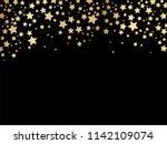 gold stars background vector | Shutterstock .eps vector #1142109074
