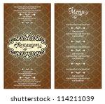 vector. restaurant menu design | Shutterstock .eps vector #114211039