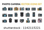 photo film camera models and... | Shutterstock .eps vector #1142115221