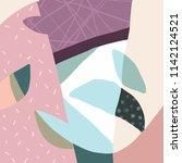 abstract vector art background... | Shutterstock .eps vector #1142124521