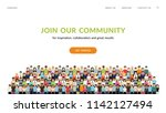 join our community. flat... | Shutterstock .eps vector #1142127494