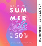 summer sale banner.unique... | Shutterstock .eps vector #1142127527