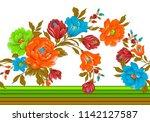 seamless floral border | Shutterstock . vector #1142127587