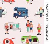 senior travel vector elderly... | Shutterstock .eps vector #1142128907