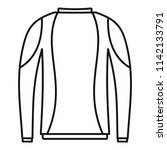 thermo clothes icon. outline... | Shutterstock . vector #1142133791
