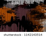 blotted grunge abstract... | Shutterstock .eps vector #1142143514
