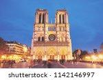 Notre Dame De Paris Front View...